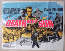 Death in the Sun, UK Quad Poster, Christopher Lee, '76